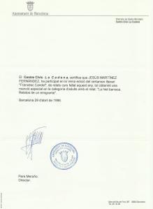 Premi Francesc Candel 1996